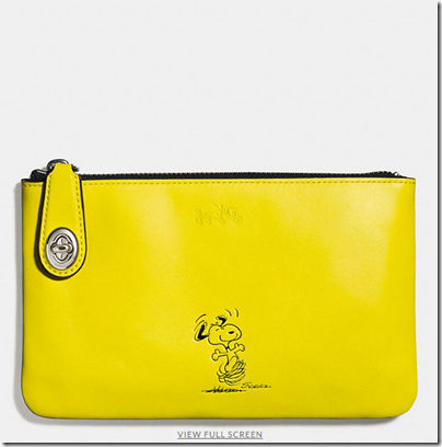 COACH X Peanuts small folio - USD 120 - silver yellow
