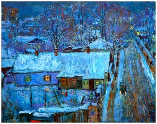Максименко Николай Антонович (Украина, 1924) «Предрассветные огни» 1980