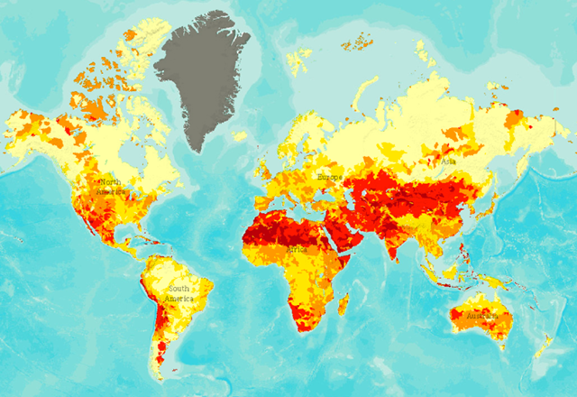Aqueduct's global water risk mapping tool. Graphic: aqueduct.wri.org