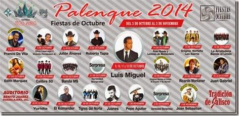 Palenque Fiestas de Octubre 2014 en Guadalajara Precios