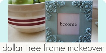 dollar tree frame makeover
