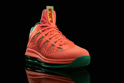 nike lebron 10 low gr watermelon 5 01 Release Reminder: Nike LeBron X Bright Mango aka Watermelon