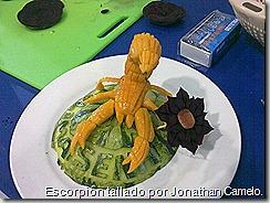 Escorpión tallado por Jonathan Camelo