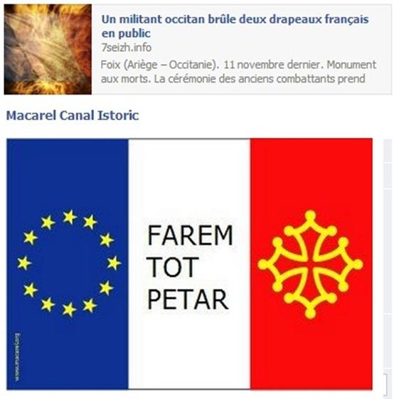 7Seizh cremar una bandièra francesa