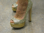 I was dressed from head to toe in gold, here I am in my Miu Miu shoes!