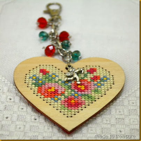 valentine bag charm