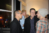 Pepe Villegas and guests at the opening reception of  FolkloRican: The Art of Pepe Villegas at NYU Wagner
