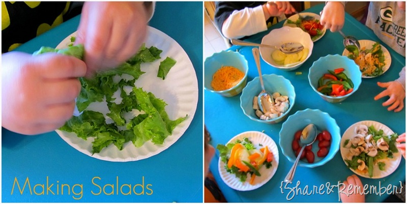 Making Salads with Preschoolers Nutrition