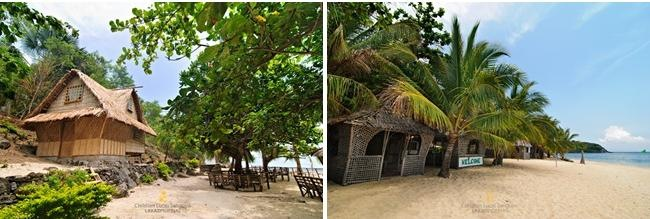 Huts Along Tabunan Beach in Romblon