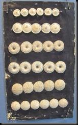2 singleton, 2 birdseye 2 Dorset knobs