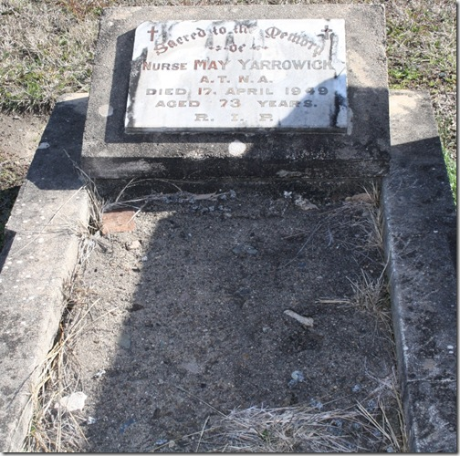 May Yarrowyk's grave Kim Harvie