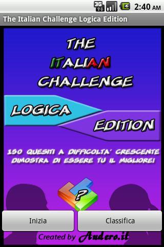 The Italian Challenge Logica