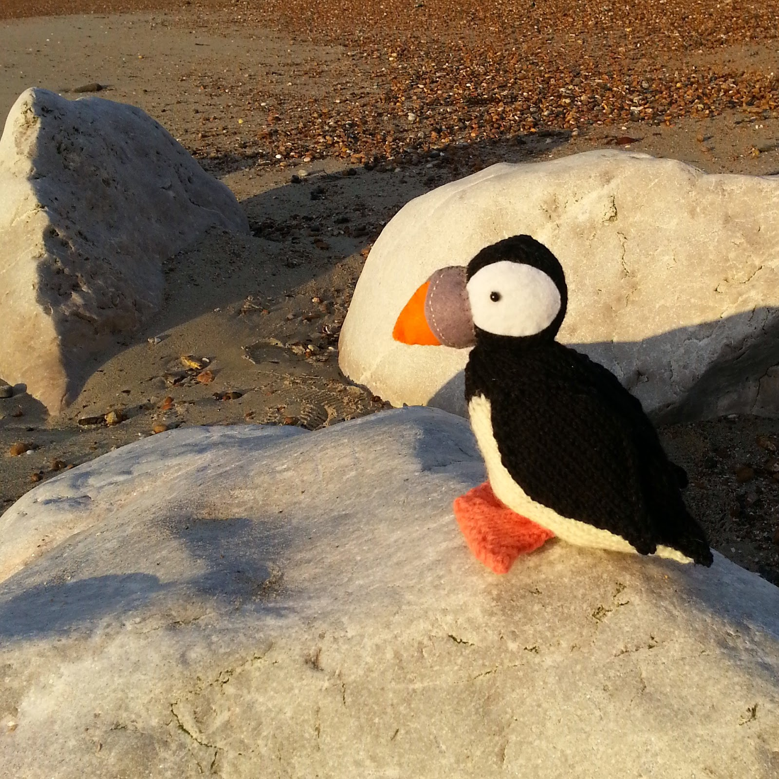 Knit for Victory: Puffin on the beach