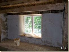 final coat of plaster on landing upstairs