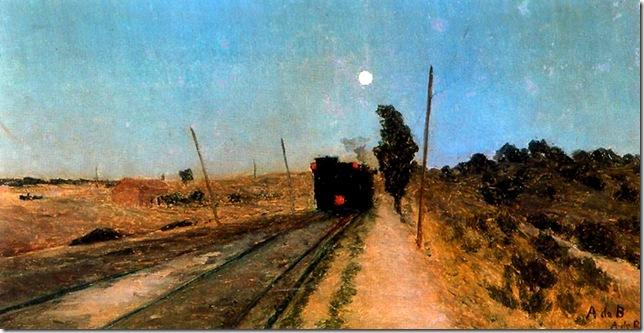 Aureliano de Beruete y Moret-Tren en la noche