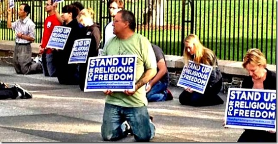 Stand for Religious Freedom Protest - White House