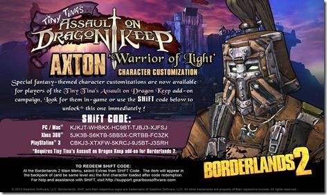Borderlands 2 DLC Shift Code 1