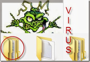 virus hides files and folders