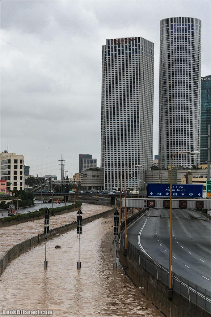 Сказ о том как одна маленькая, но гордая речка парализовала половину Израиля и весь Тель Авив (foto israel  фото тель авив и интересно и полезно дождь и снег  20130108 ta ayalon river 024 5D3 5681)