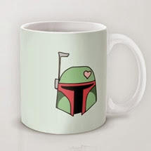 Boba Fett Valentine Mug from August Decorous on Society6