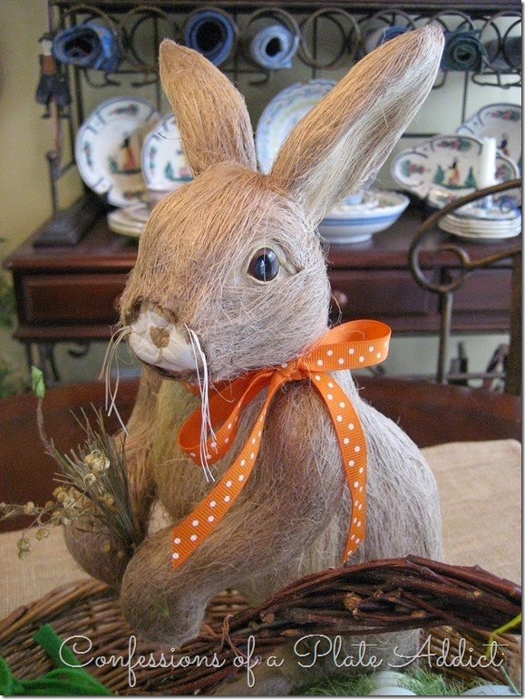 CONFESSION OF A PLATE ADDICT Easter Bunny Centerpiece