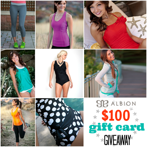 Albion Fit $100 gift card giveaway #gingersnapcrafts #giveaway