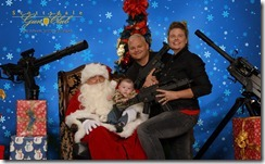 Santa with guns