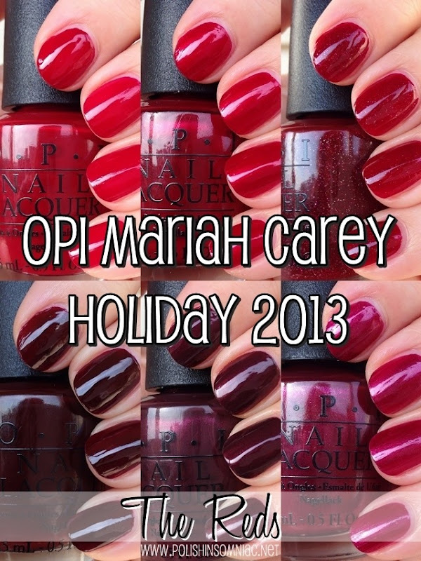 OPI Mariah Carey Holiday - The Reds