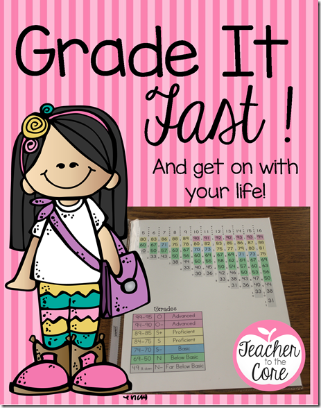 Grade it fast and get on with your life- Freebie from Teacher to the Core.pgn