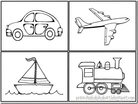 transportation coloring pages for preschool - preschool alphabet vehicles