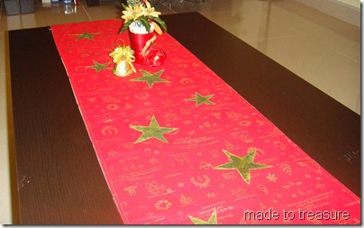 table runner with applique star