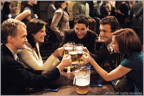 We've overstayed our welcome. Cheers! CLICK to visit HIMYM online.