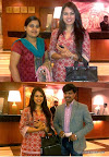 Reader Hrishikesh Deshpande and his wife Mayuri met actress Mahima Chaudhry at Hotel Rama International, Aurangabad.