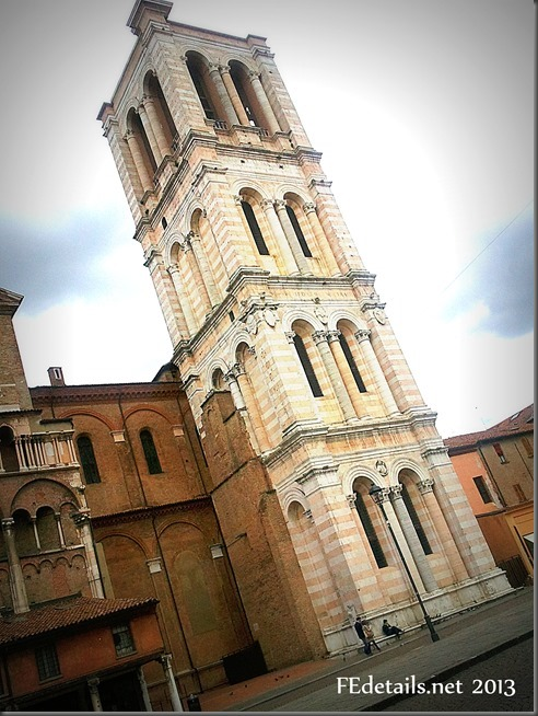 Campanile della Cattedrale di San Giorgio - Bell tower of the Cathedral of St. George, Ferrara, Italy, photo1