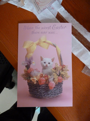 I got an easter card!