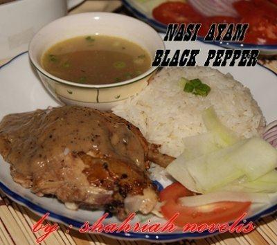 nasi ayam black pepper
