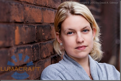 Portrait of Erica, by David A. Gilmour, Lumacraft Photography
