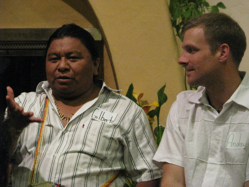 Gilberto explained how the U'wa role of guardian of Mother Nature has put them in conflict with economic and political interests, both national and international, that want access to natural resources within U'wa territory. These include corporations, left-wing guerrilla groups, and State security forces.