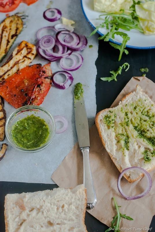 Tandoori grilled veggie sandwich-2