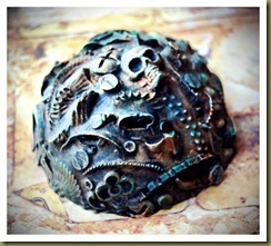 andy skinner art outcasts workshop steampunk paperweight