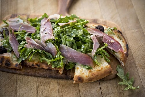 Flatbread Pizza Prosciutto Arugula, courtesy Centerplate
