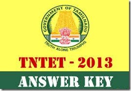 TN TET 2013 Answer key