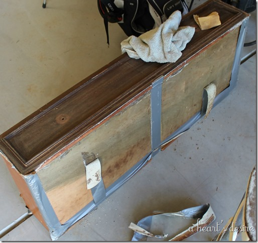 Duck tapped drawer