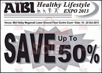 AIBI Healthy Lifestyle Expo 2013 Malaysia Fitness Deals Offer Shopping EverydayOnSales