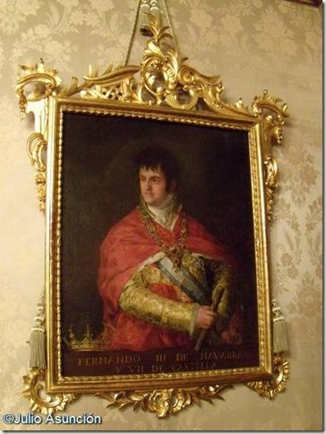 Retrato de Fernando VII - Goya - Palacio de Navarra