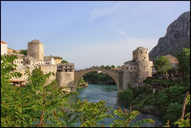 View of Stari Grad from Koski Mehmet Pasha Mosque Mostar