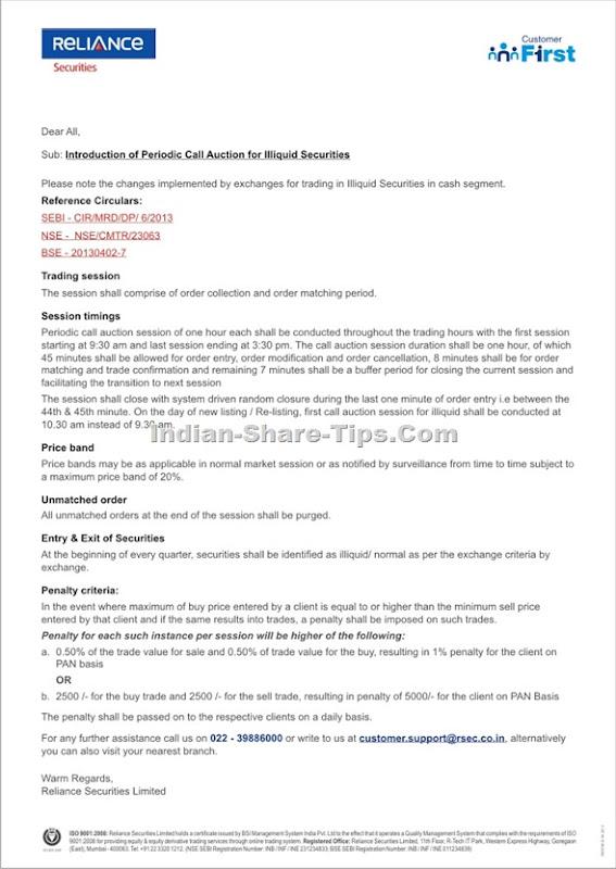 Periodic Call Auction for Illiquid Securities