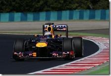 Vettel(Red Bull) nelle prove libere del gran premio d'Ungheria 2013