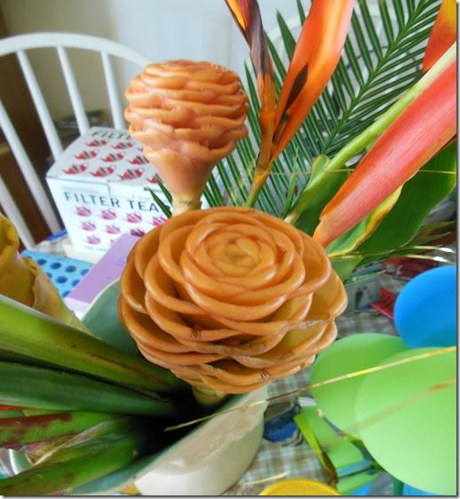 Wax like flowers orange