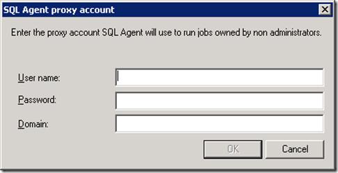 SQL Agent proxy account